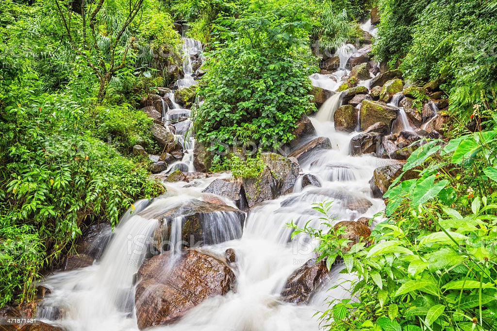 Beauty in nature Waterfall royalty-free stock photo