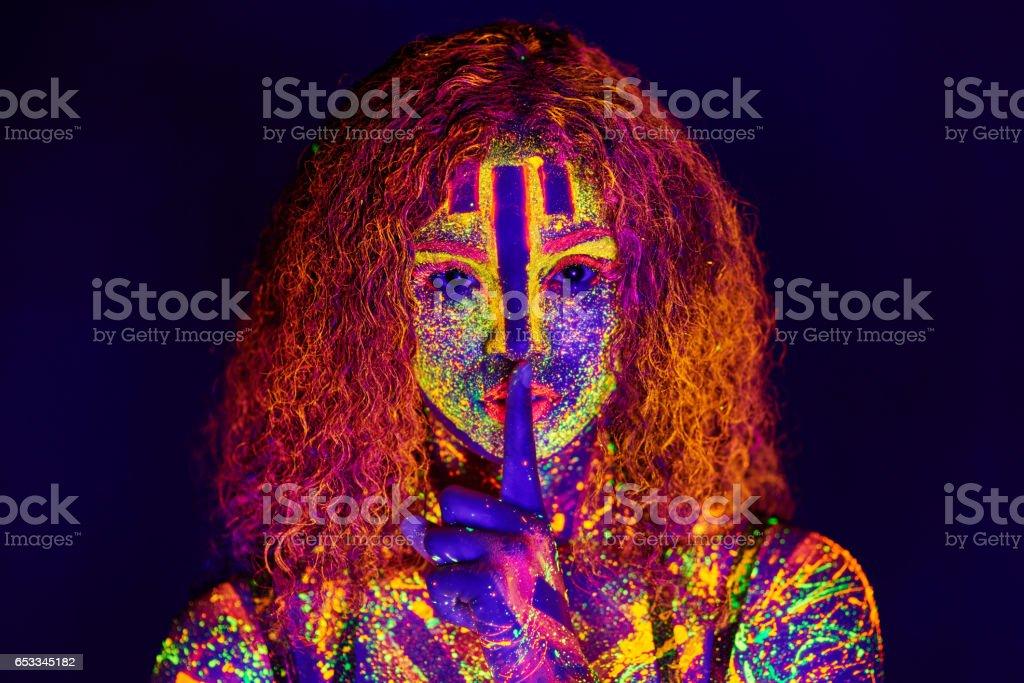 Beauty in neon stock photo