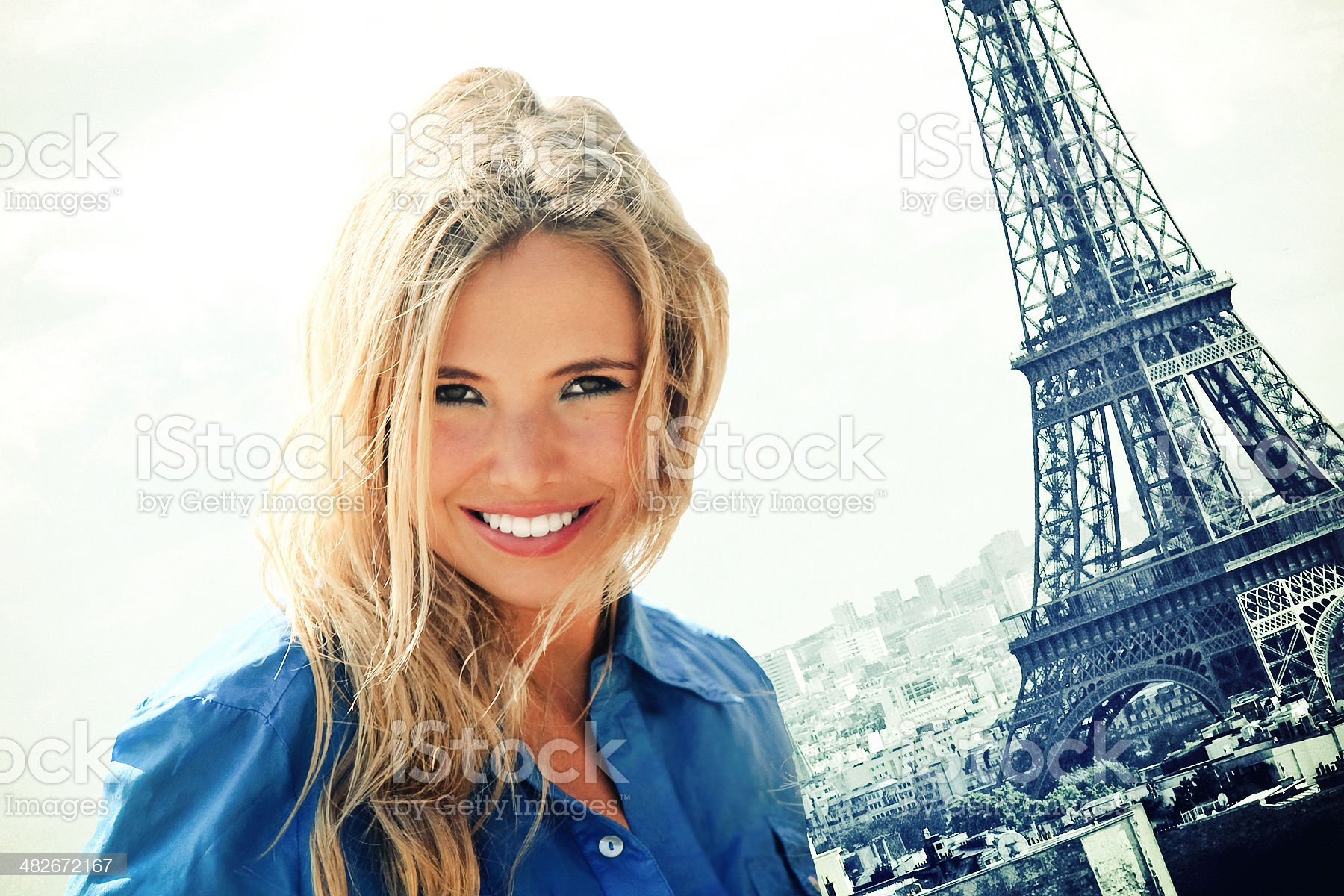 Beauty in Paris royalty-free stock photo