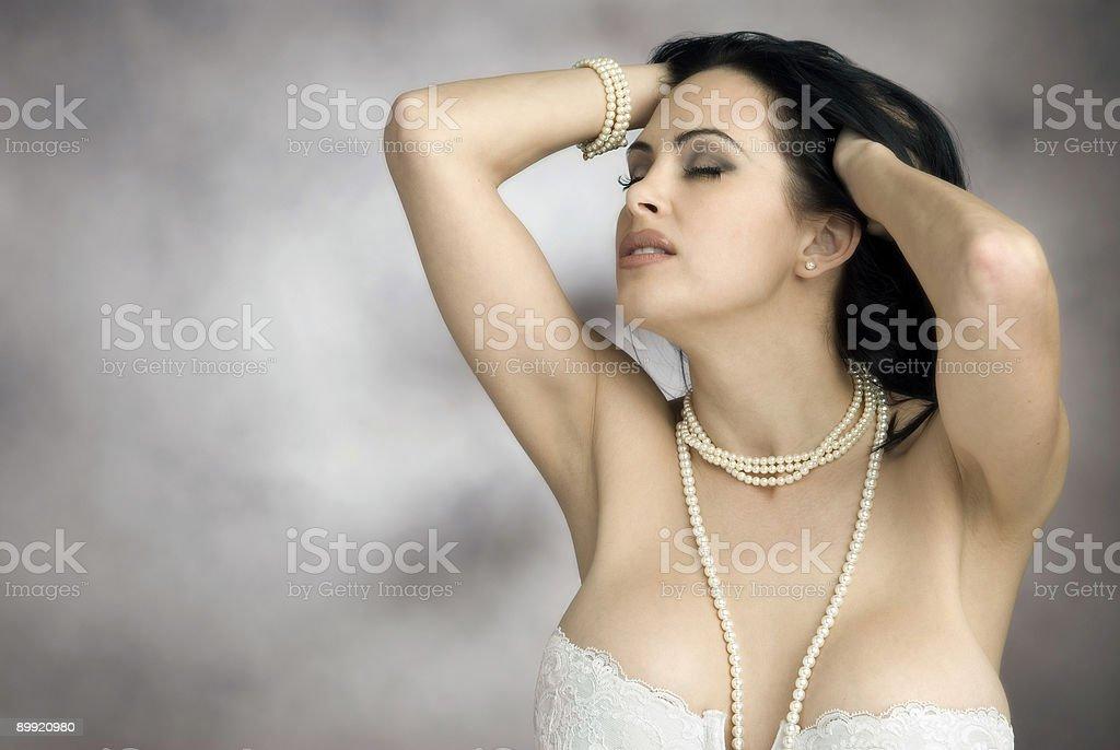 Belleza de perlas foto de stock libre de derechos
