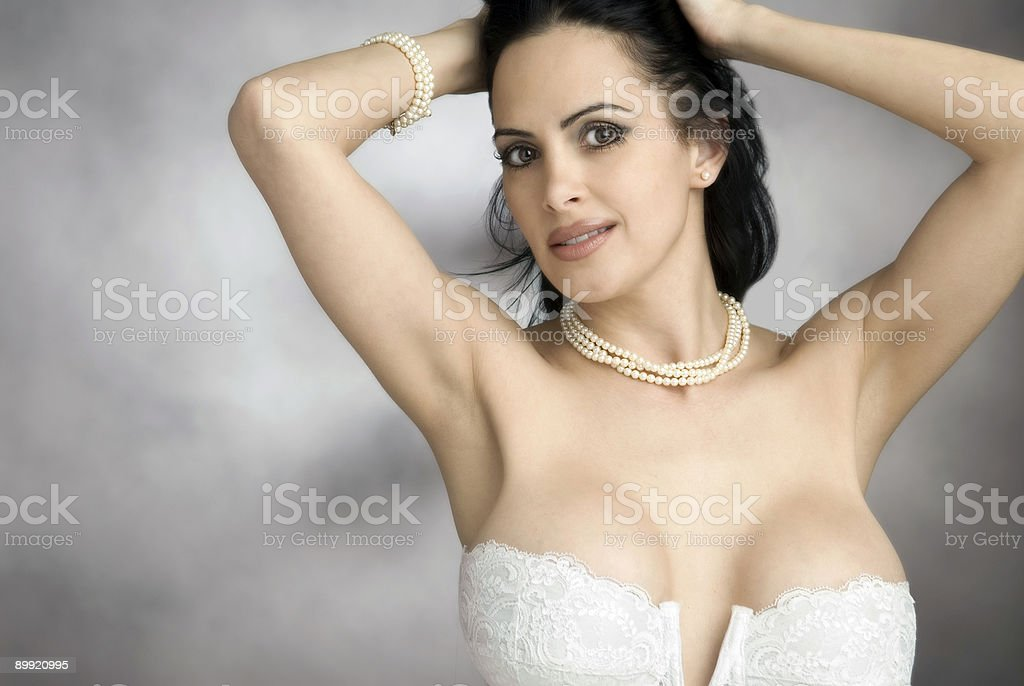 beauty in pearls royalty-free stock photo