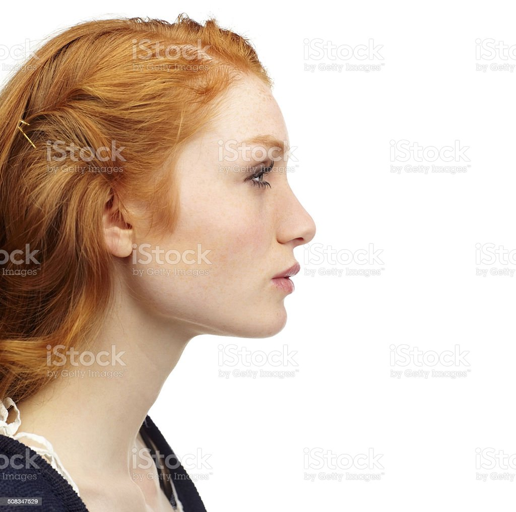 Beauty in profile stock photo