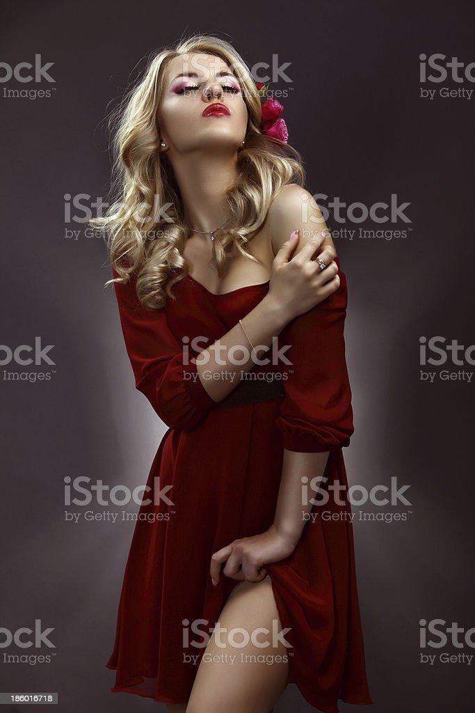 Schönheit in Rot Lizenzfreies stock-foto