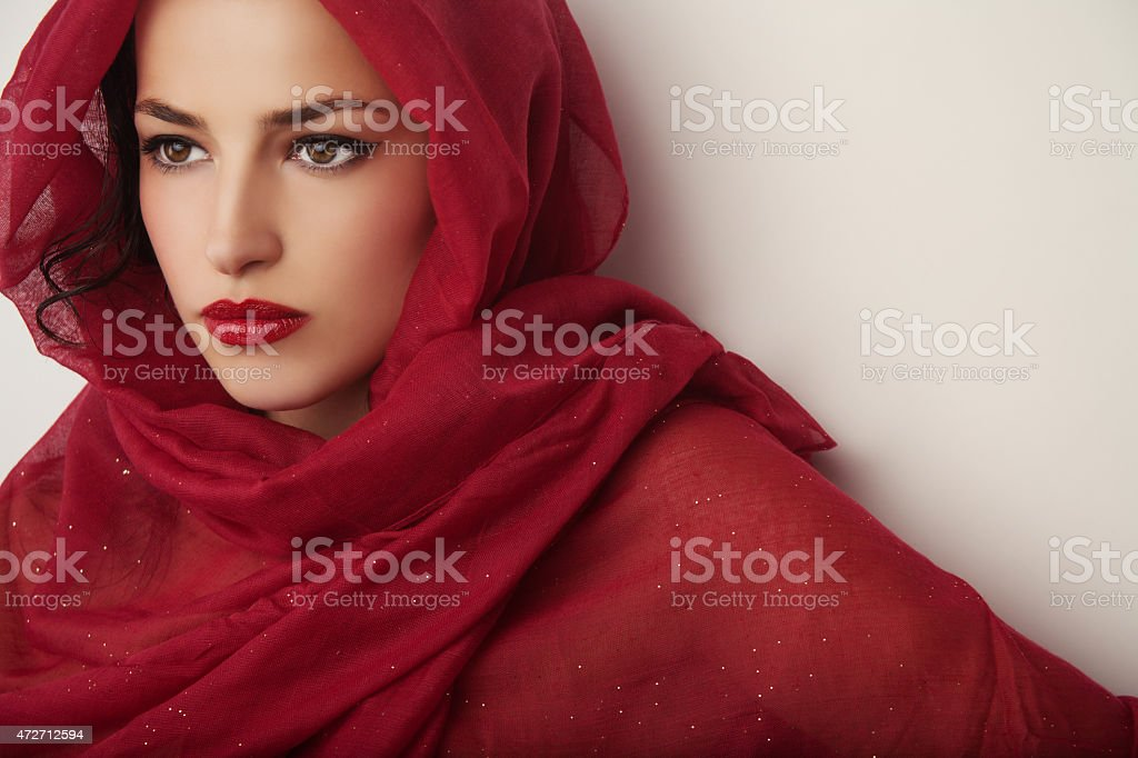 beauty in red stock photo
