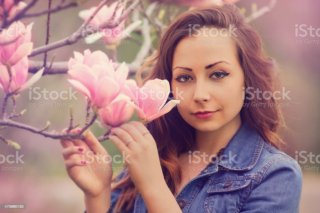 Beauty in spring stock photo