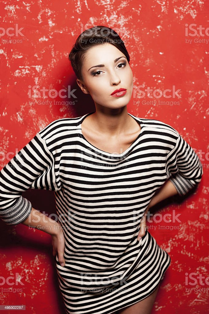 Beauty in style. stock photo