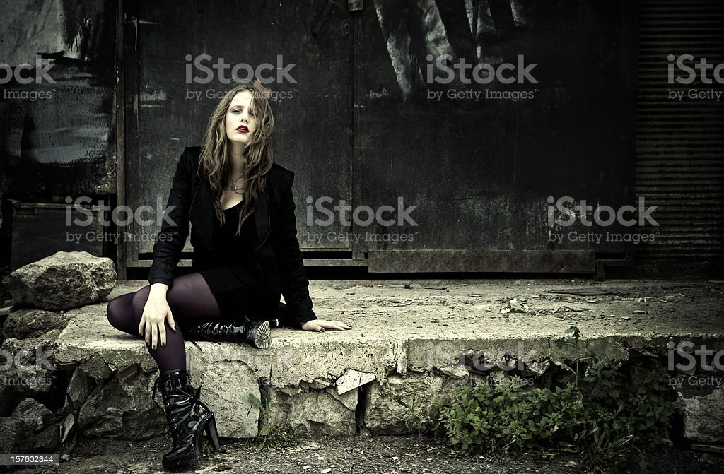 Beauty in the back streets royalty-free stock photo