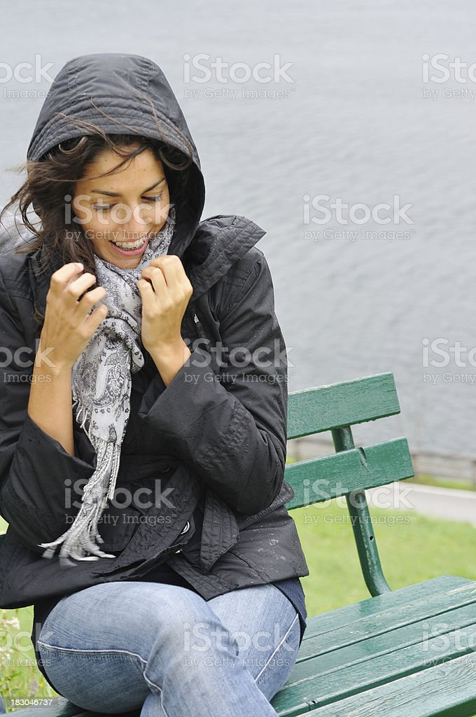 Beauty in the cold and wind royalty-free stock photo