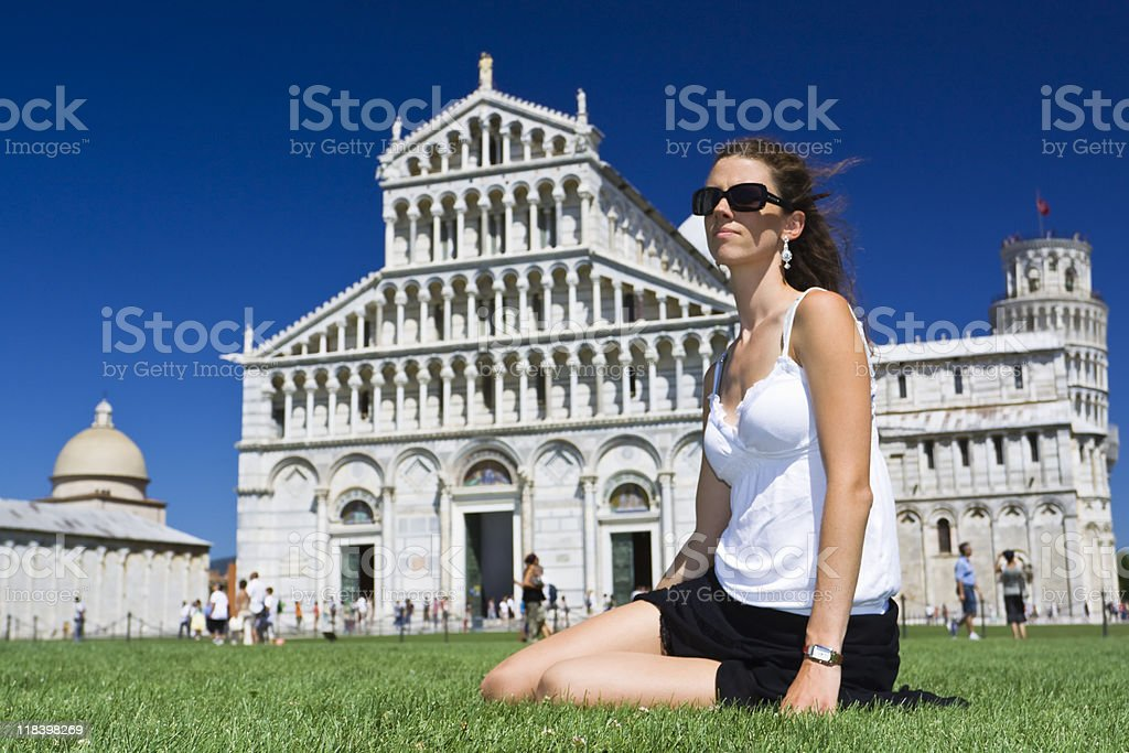 beauty in the historical Pisa royalty-free stock photo