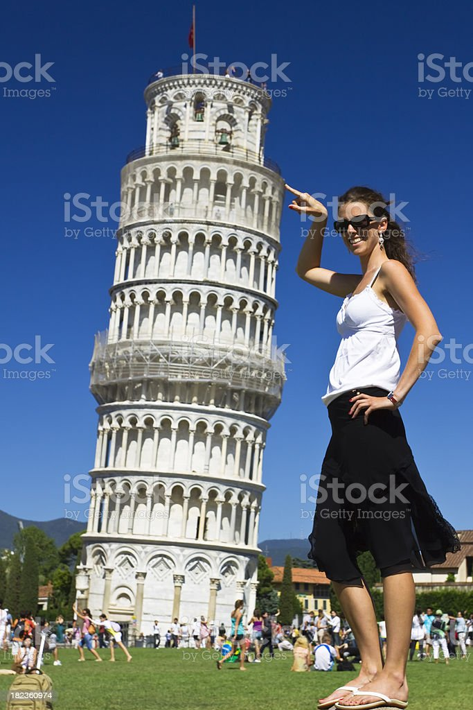 beauty in the historical pisa stock photo