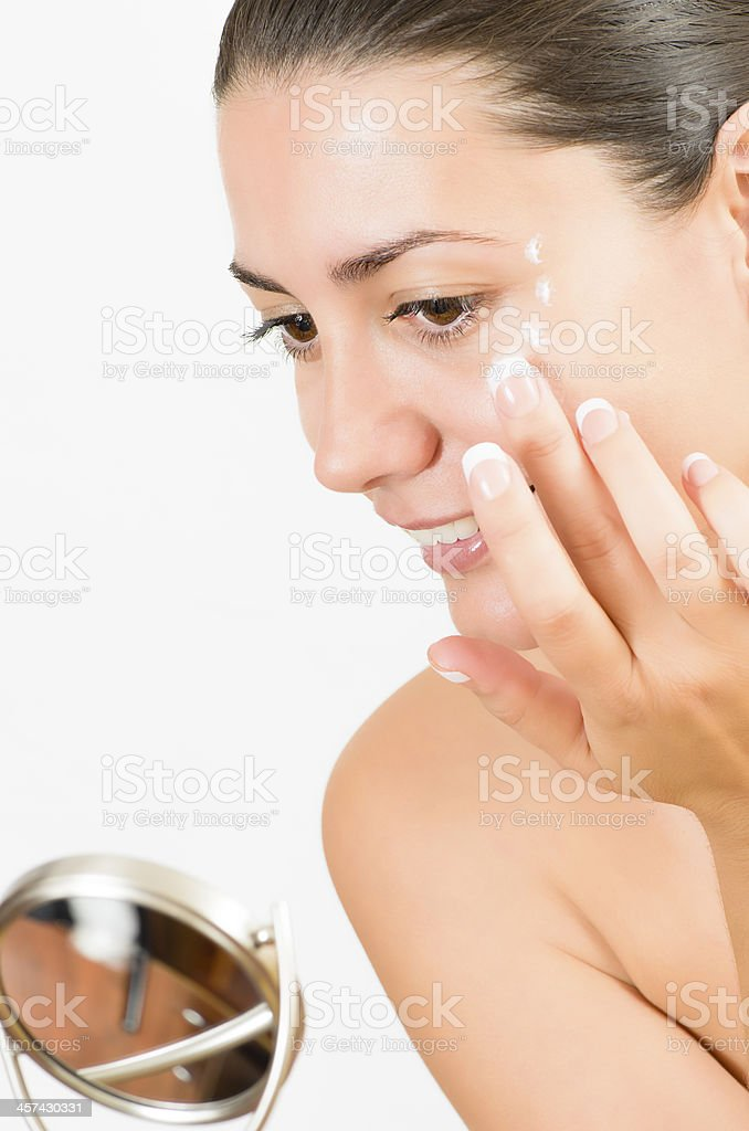 Beauty in the mirror royalty-free stock photo