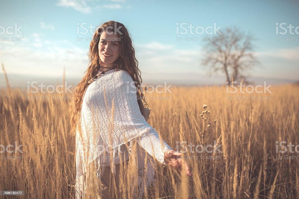 Beauty in the prairie stock photo
