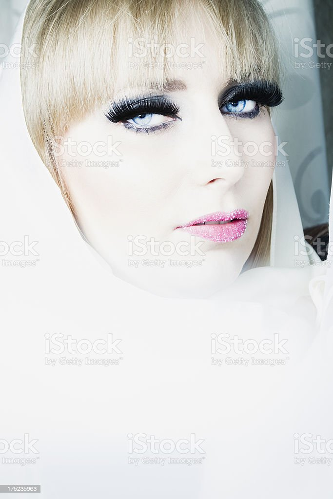 Beauty in white royalty-free stock photo
