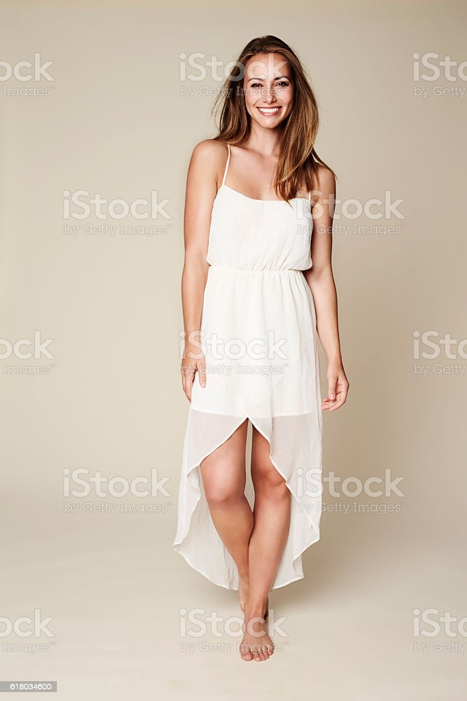 Beauty in white stock photo