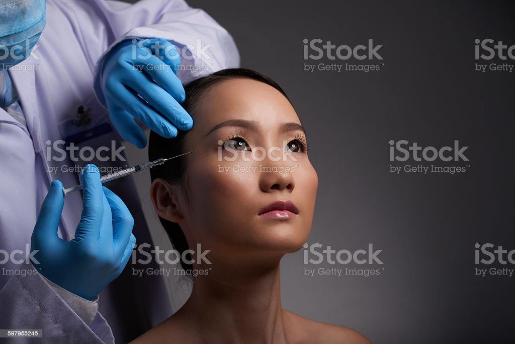 Beauty injections stock photo
