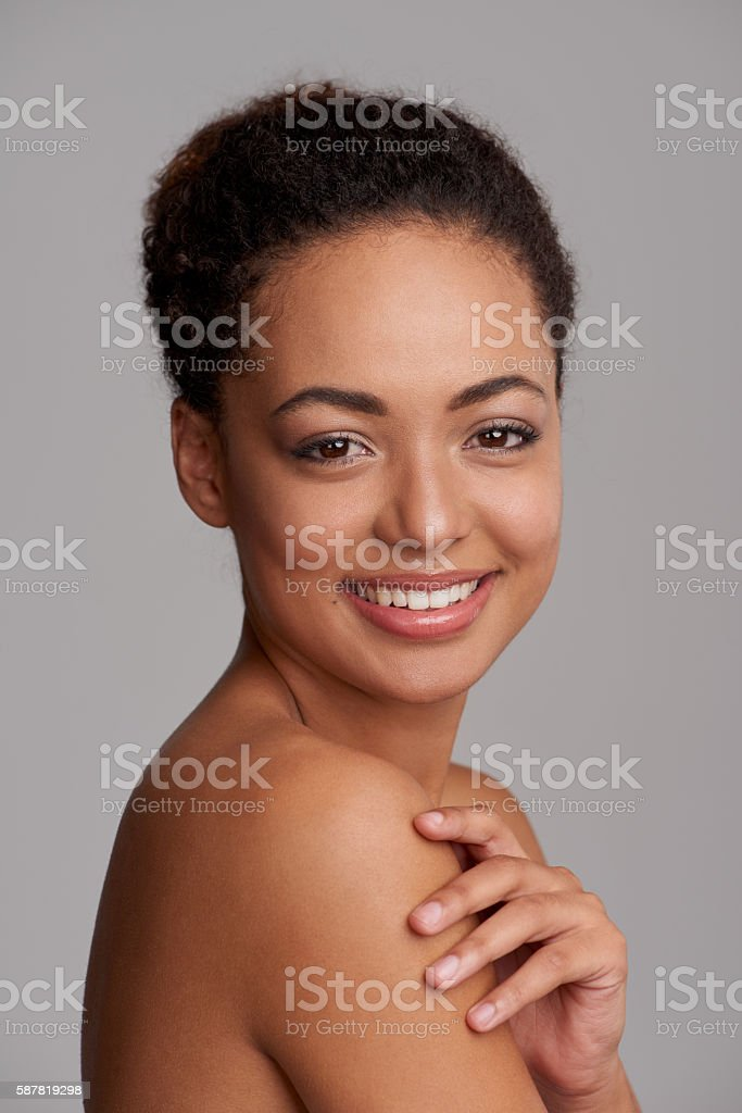 Beauty is about celebrating your individuality stock photo