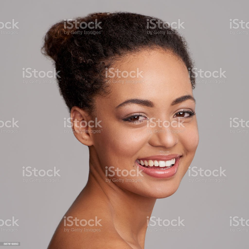 Beauty is someone who's unafraid to be herself stock photo