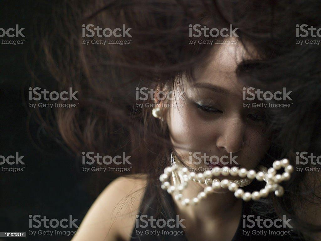 Beauty look of ennui royalty-free stock photo