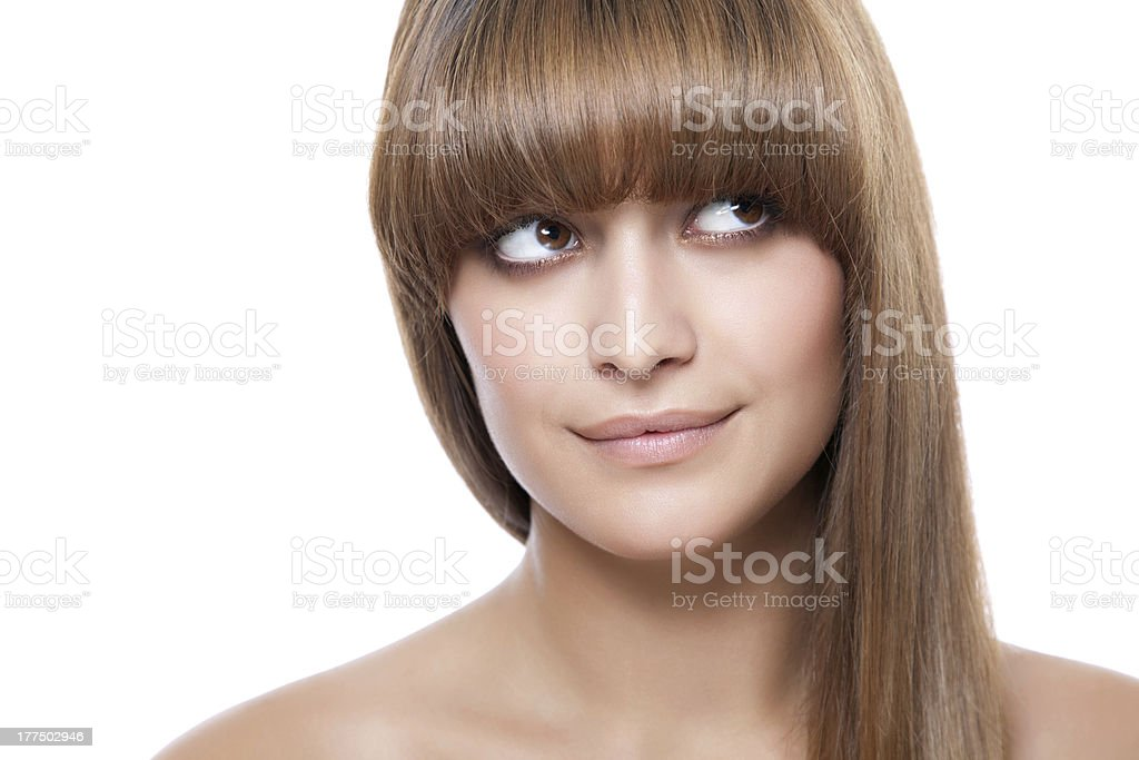 Beauty looking up royalty-free stock photo