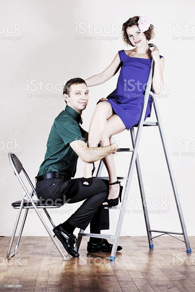 Los amantes de la belleza foto de stock libre de derechos