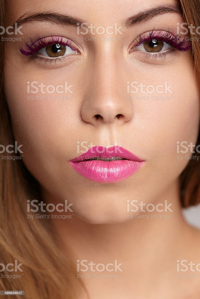 beauty makeup closeup stock photo