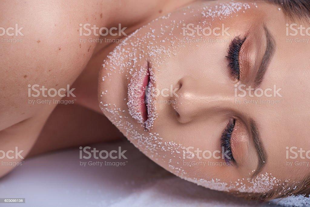 beauty, makeup, soft skin stock photo