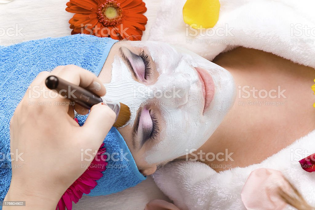 beauty mask in spa royalty-free stock photo
