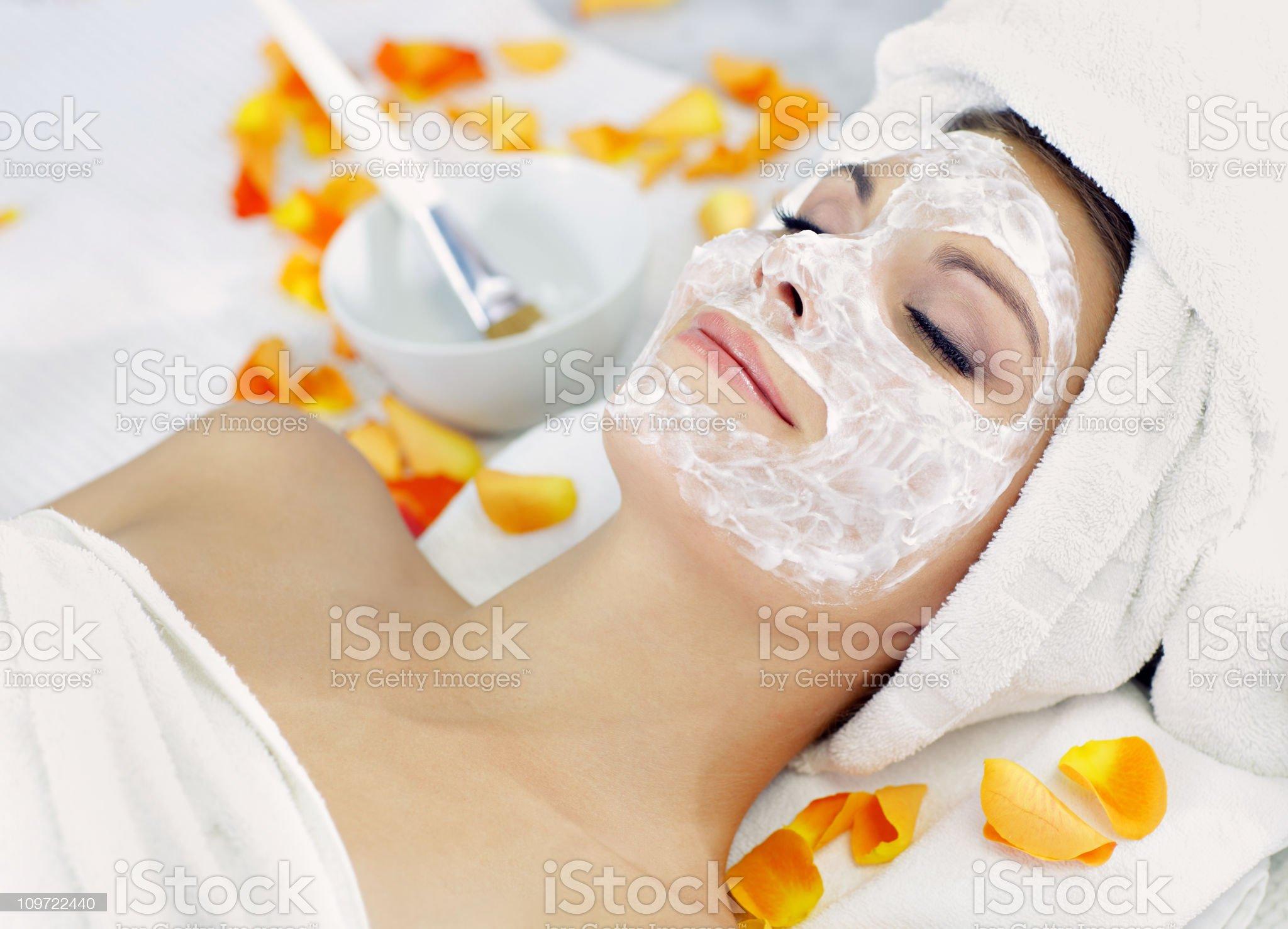 beauty mask royalty-free stock photo