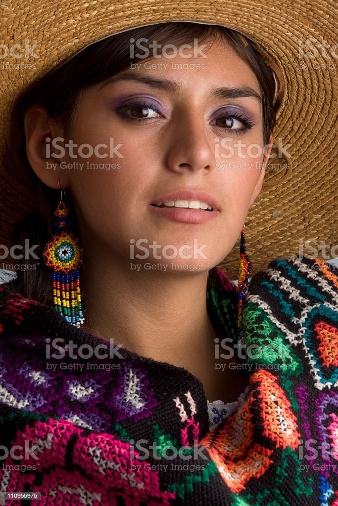 Beauty mexican stock photo