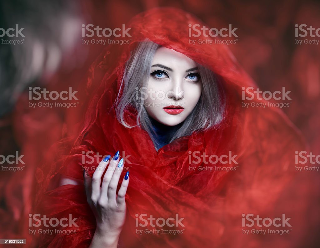 beauty, mystery and attraction stock photo