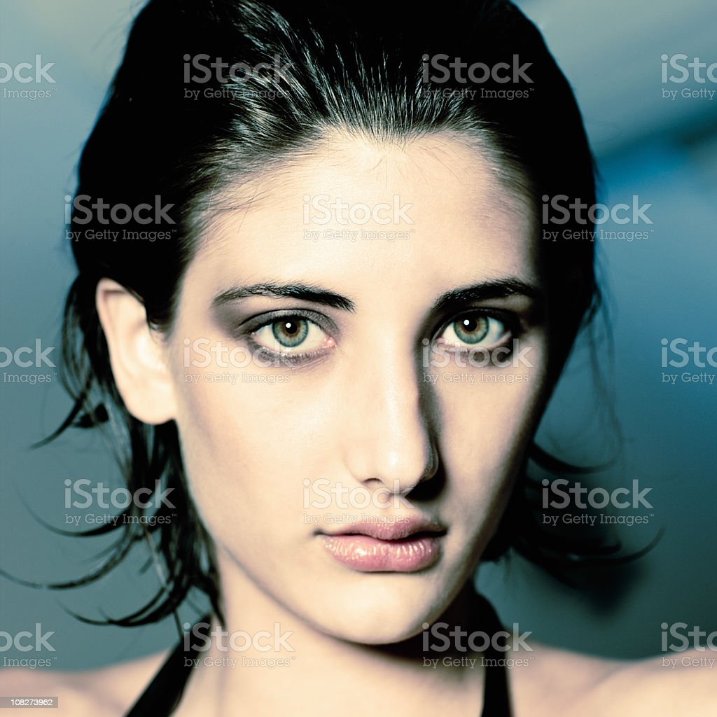Beauty Natural Woman Portrait royalty-free stock photo