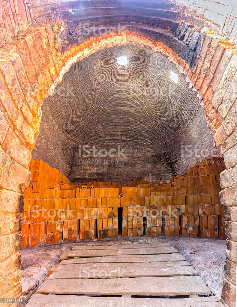 Beauty of brick kiln built port stock photo