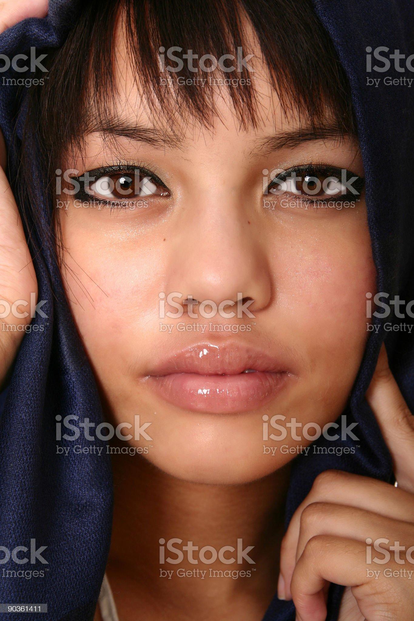 Beauty Of Brunette royalty-free stock photo