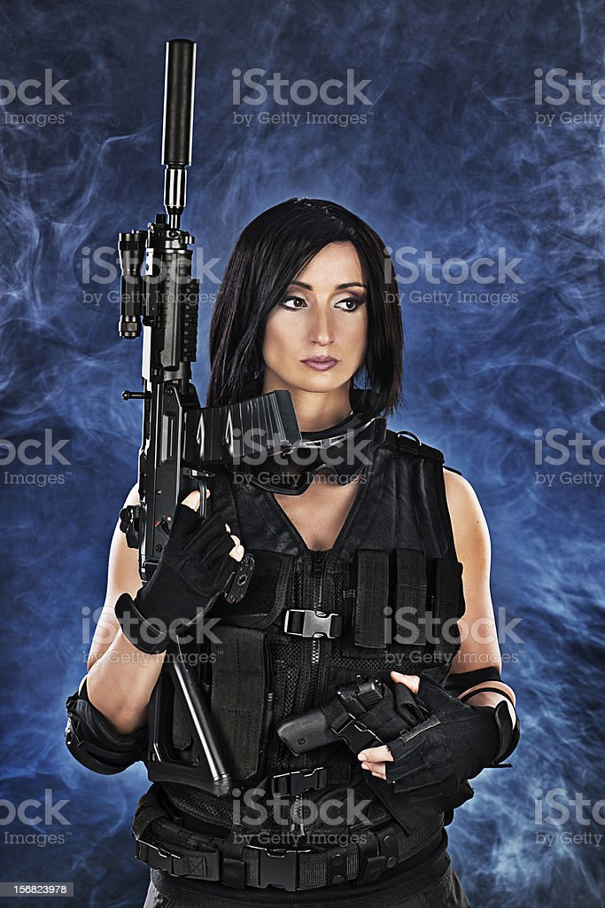 Beauty of combat royalty-free stock photo