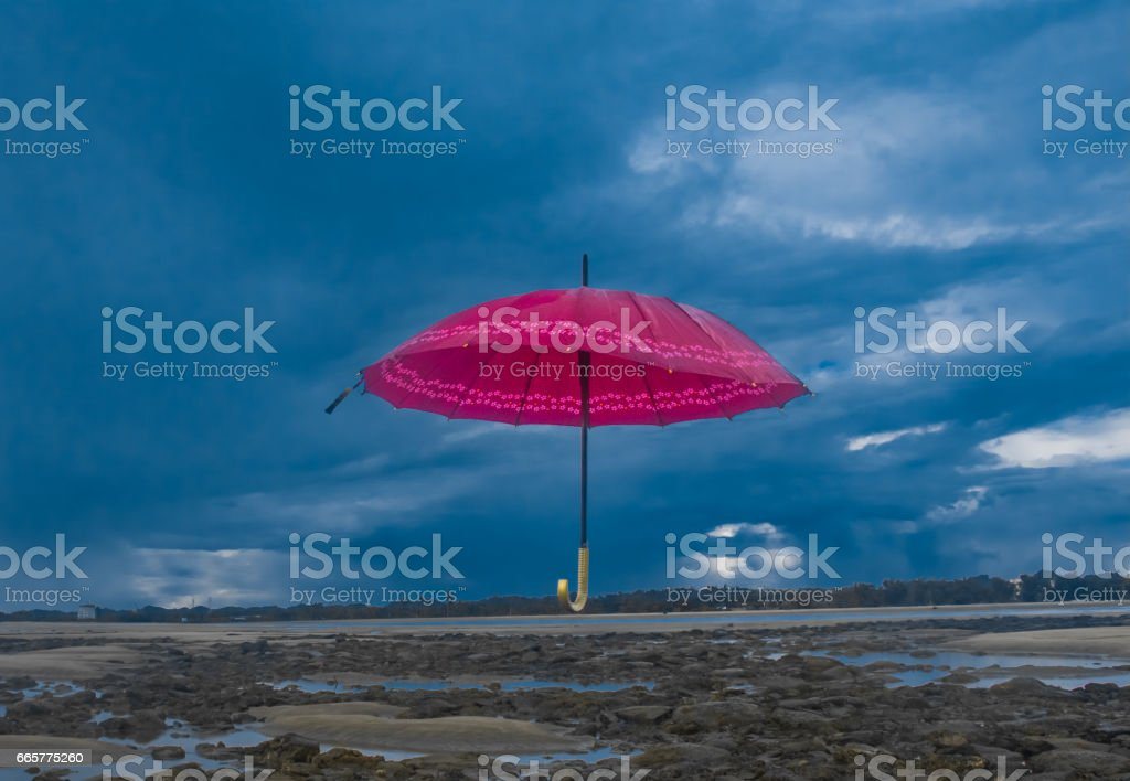 Beauty of Inani Beach, Cox's Bazar stock photo