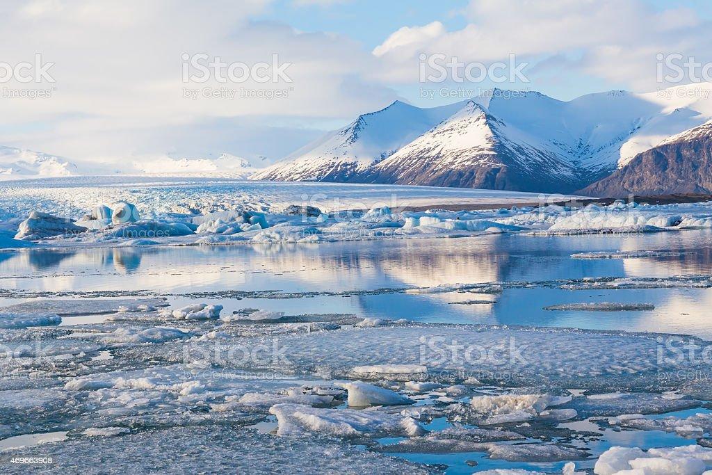 Beauty of Jokulsarlon lagoon in Iceland stock photo