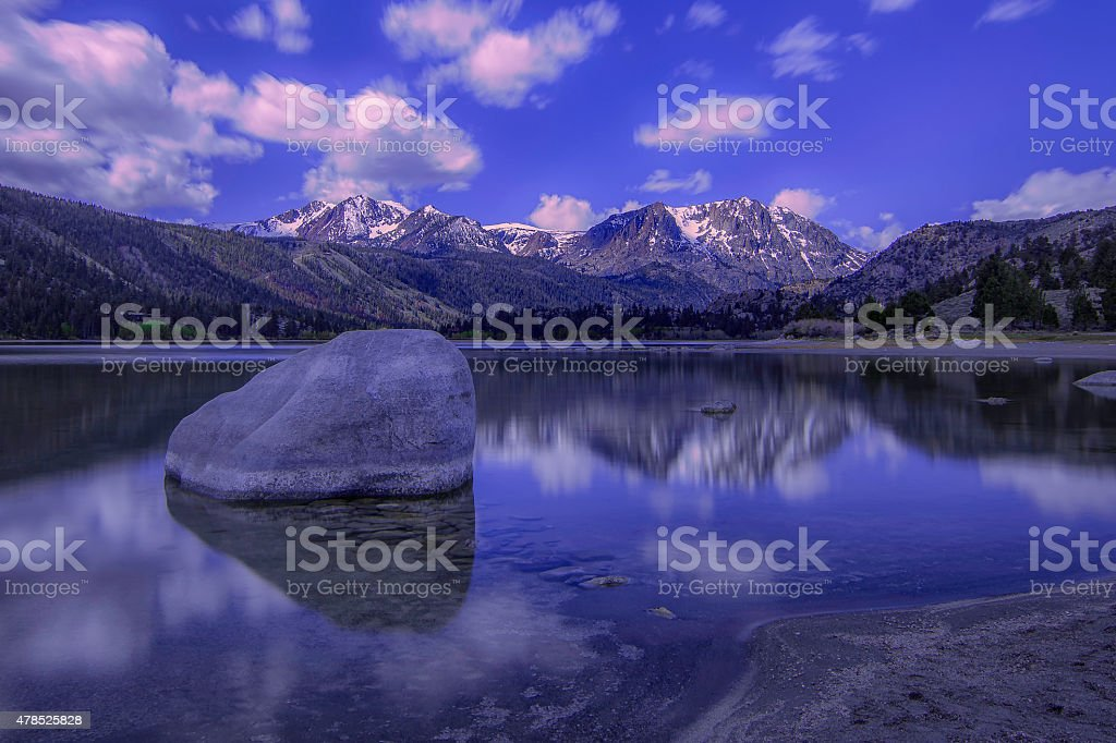 Beauty of June Lake stock photo