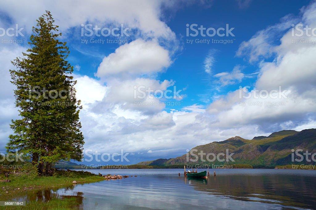 Beauty Of Loch Maree stock photo