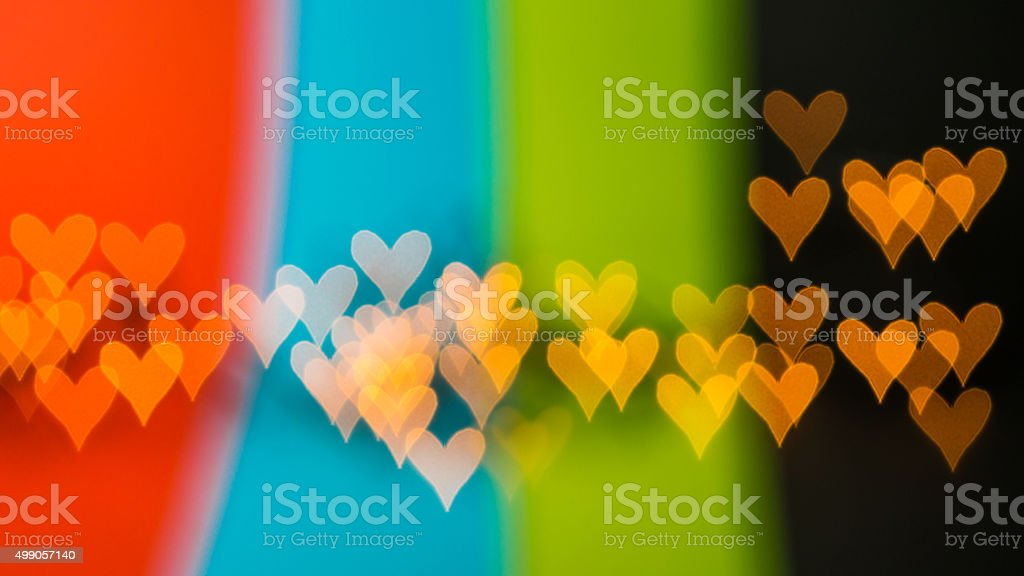 beauty of love is multicoloured stock photo