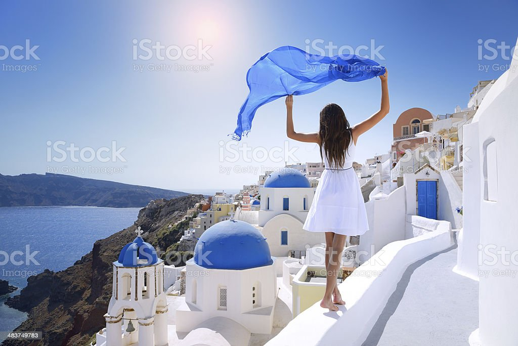 Beauty of Santorini stock photo