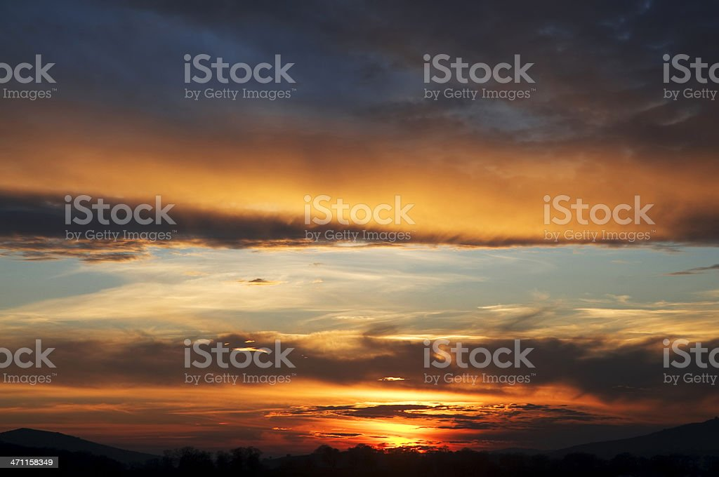 beauty of sunset stock photo