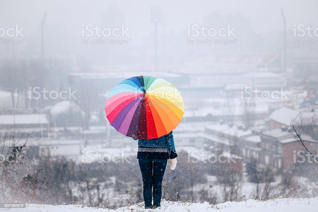 Beauty of winter stock photo