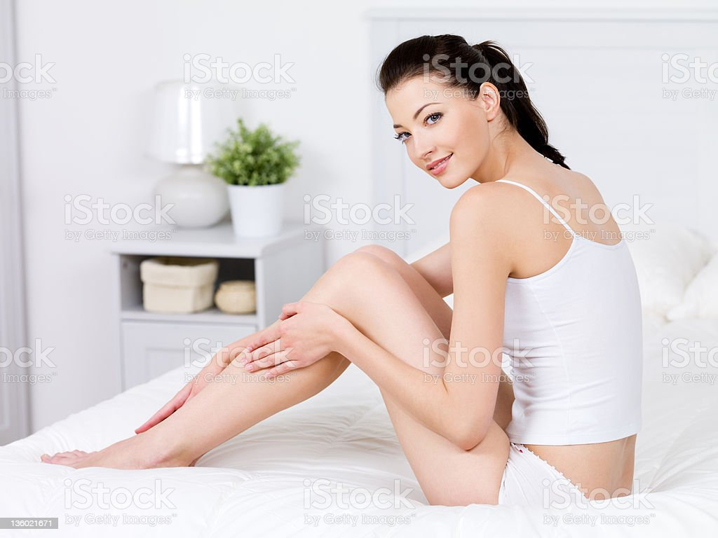 Beauty of woman with perfect legs royalty-free stock photo