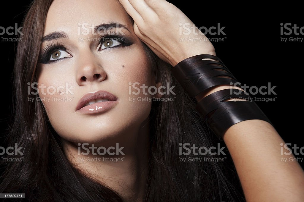 Beauty on black royalty-free stock photo