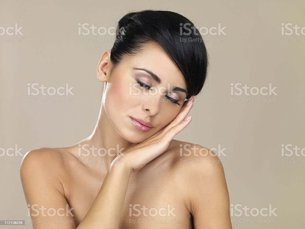 Beauty on natural background stock photo