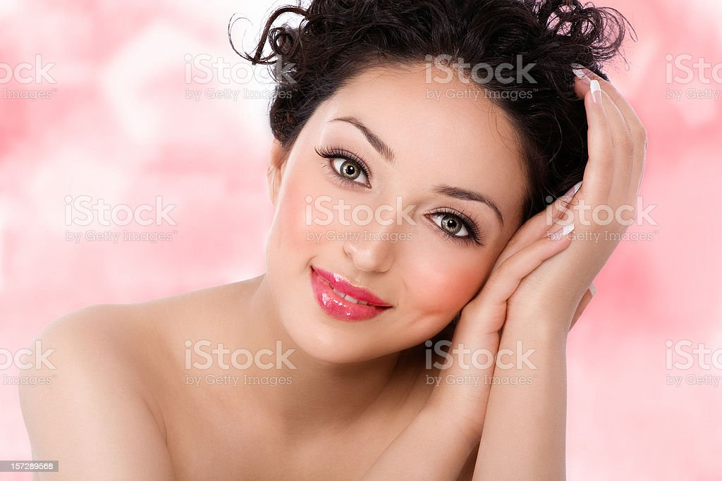 Beauty On Pink royalty-free stock photo