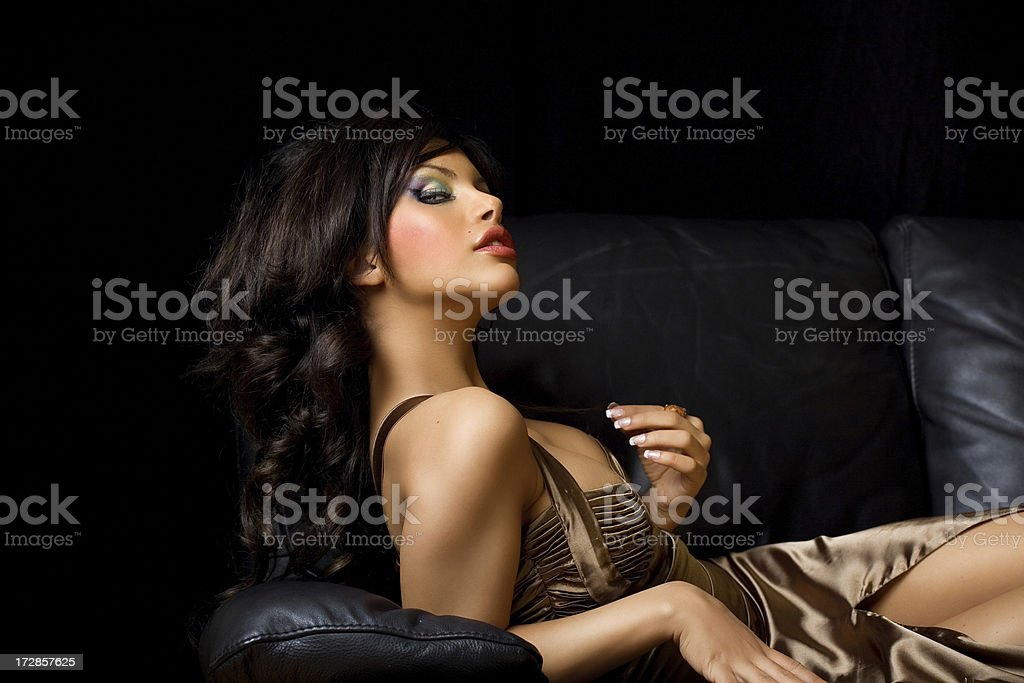 Beauty On Sofa royalty-free stock photo