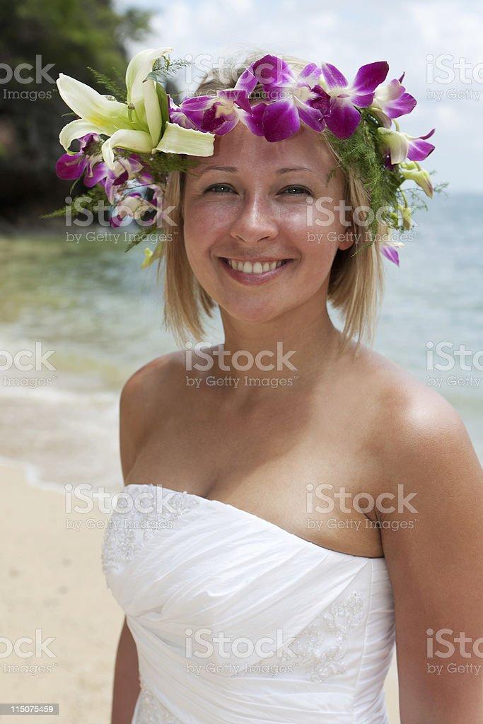 beauty on the beach royalty-free stock photo