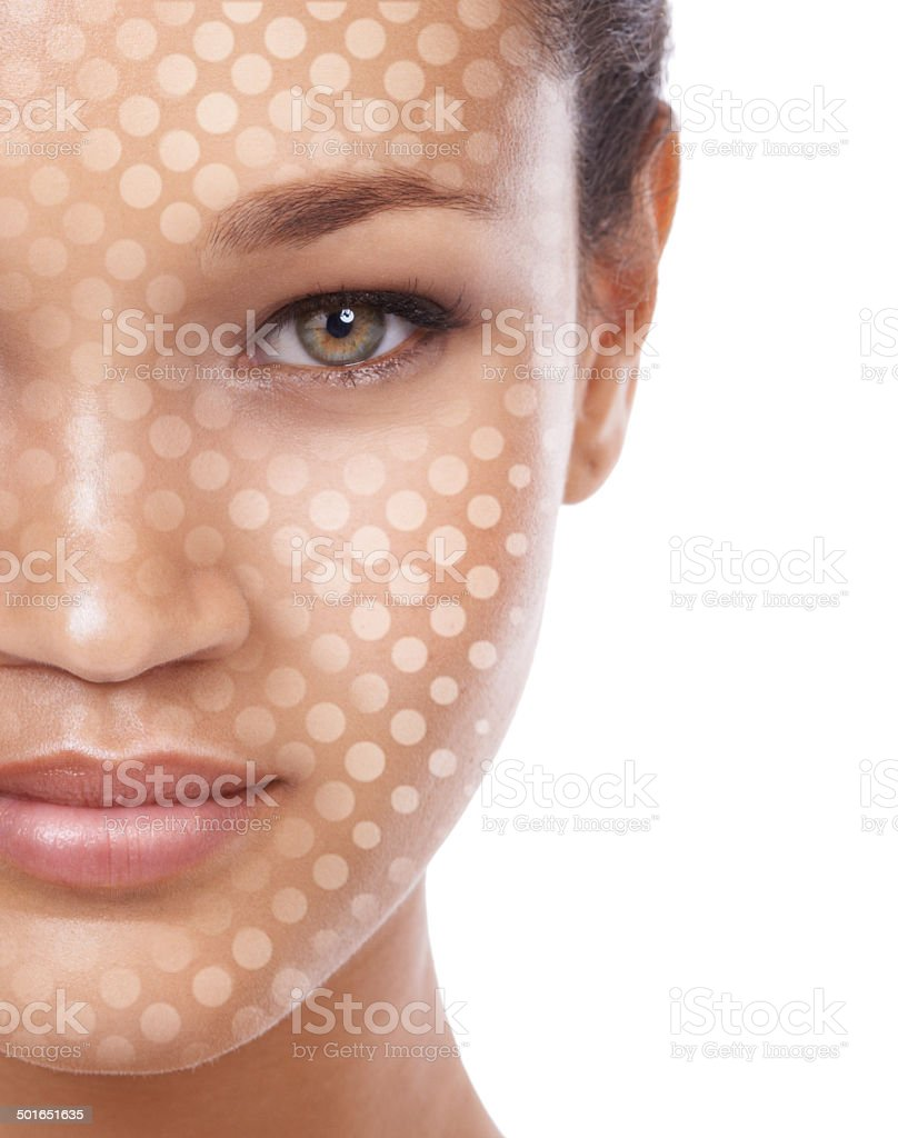 Beauty one dot at a time stock photo