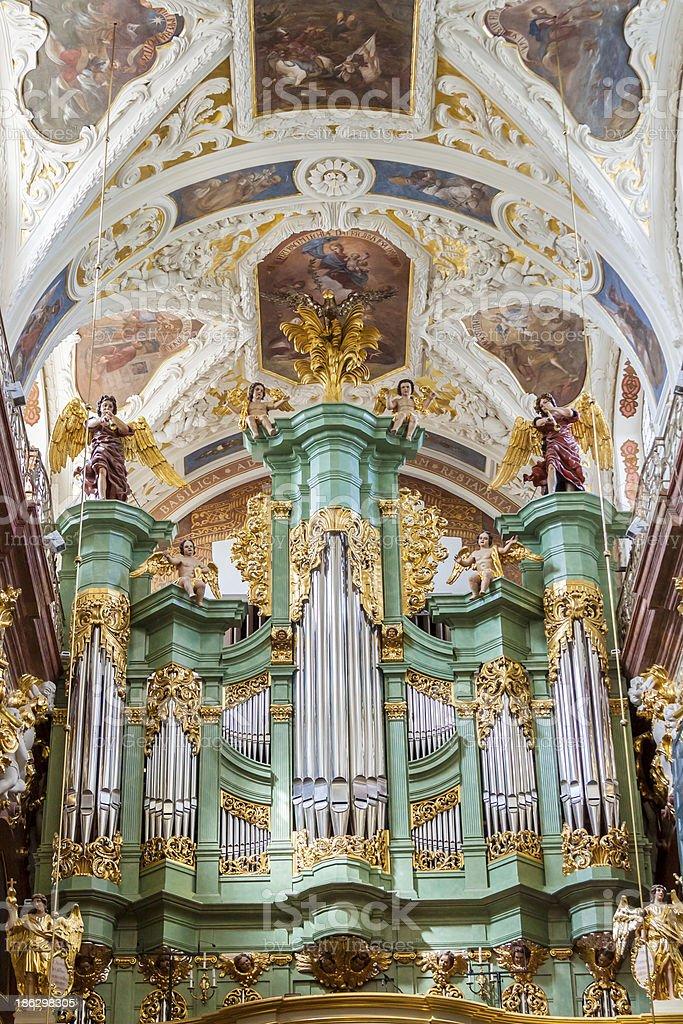Beauty organ in Jasna Gora Sanctuary - Czestochowa, Poland. royalty-free stock photo